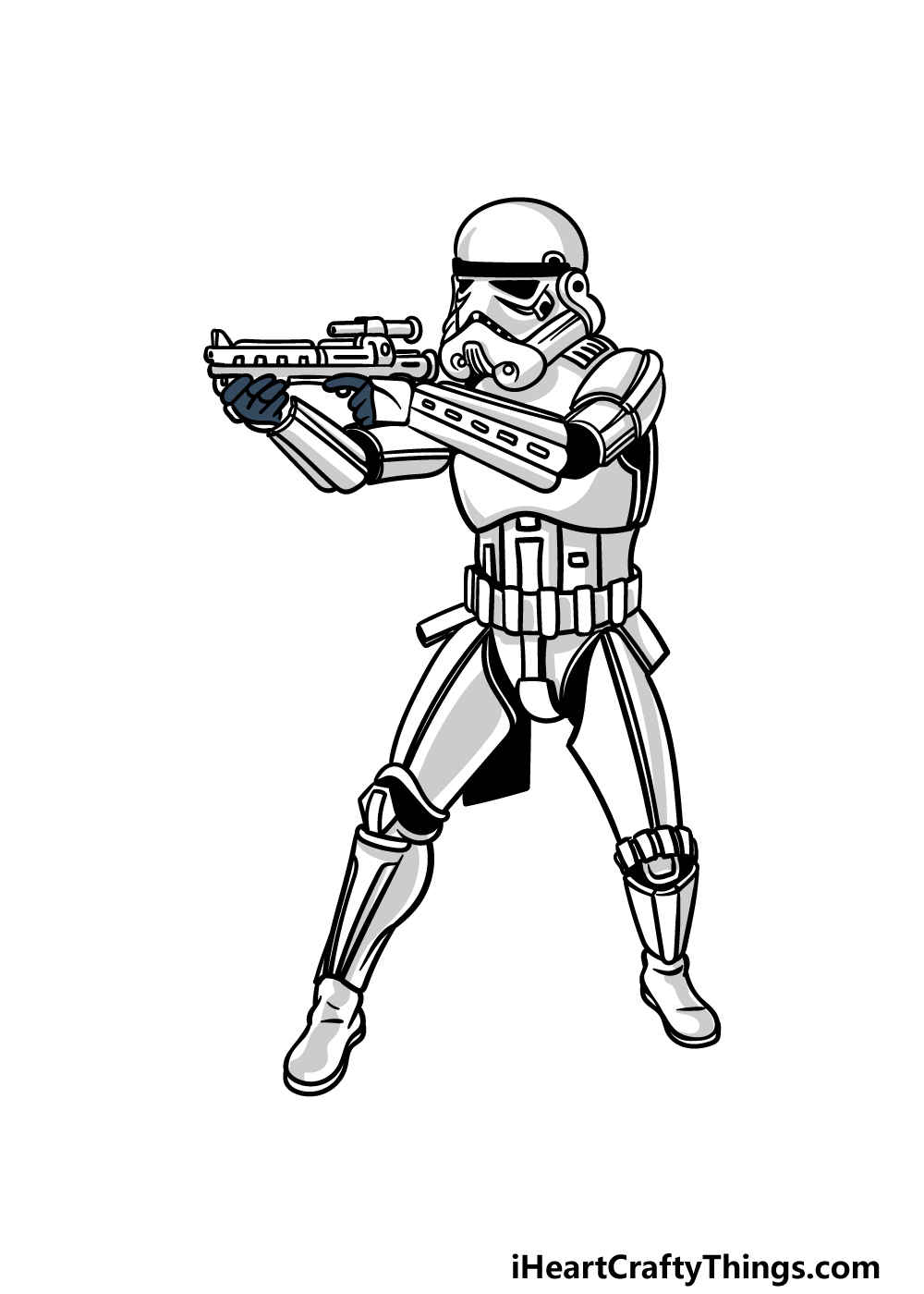 drawing a Stormtrooper step 7