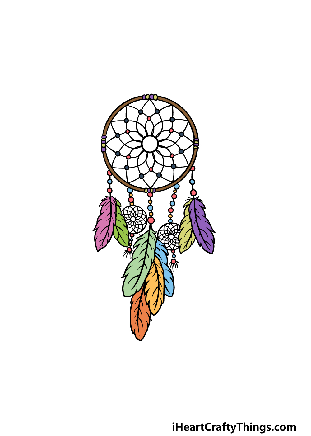 drawing dream catcher step 8