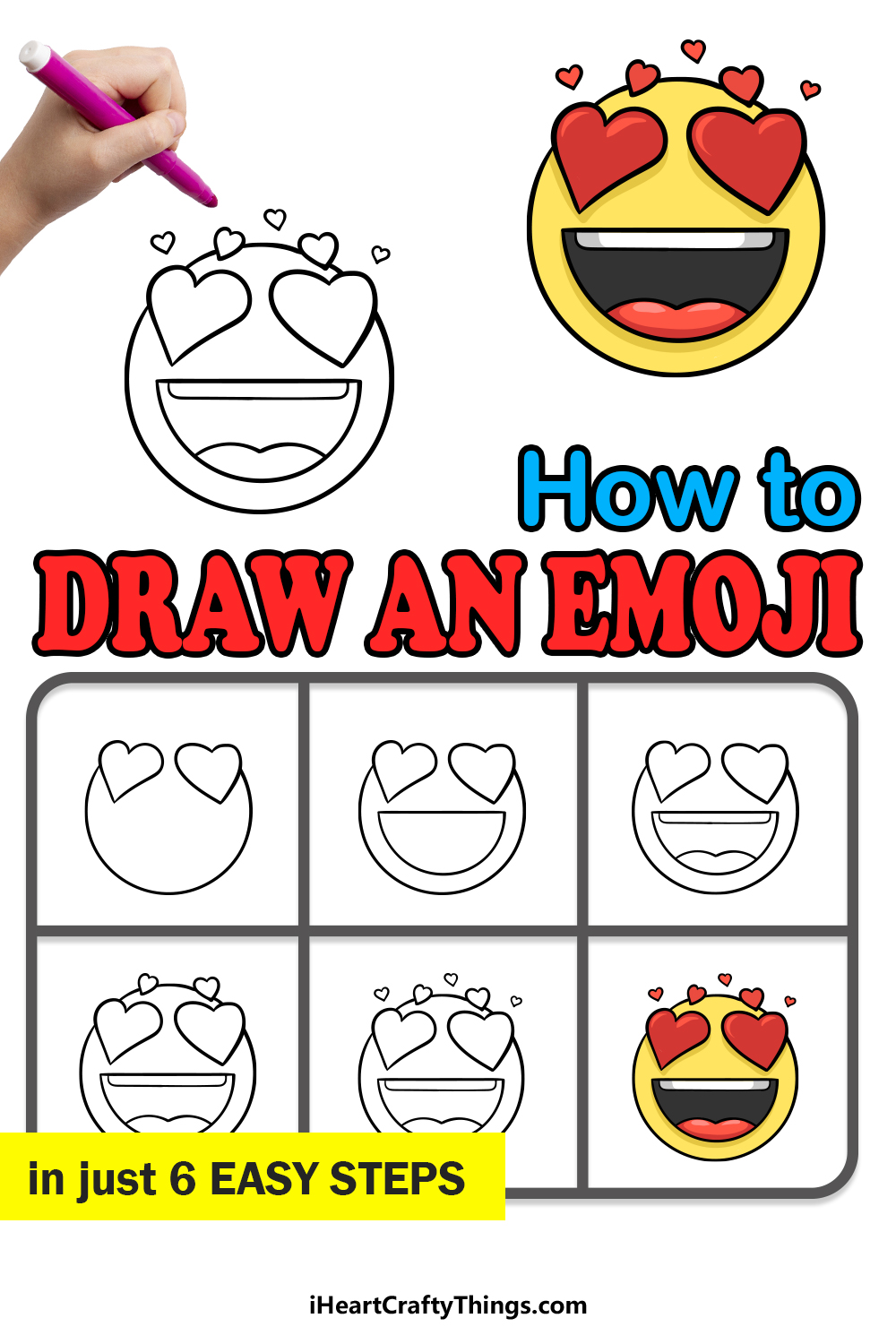 how to draw an emoji in 6 easy steps
