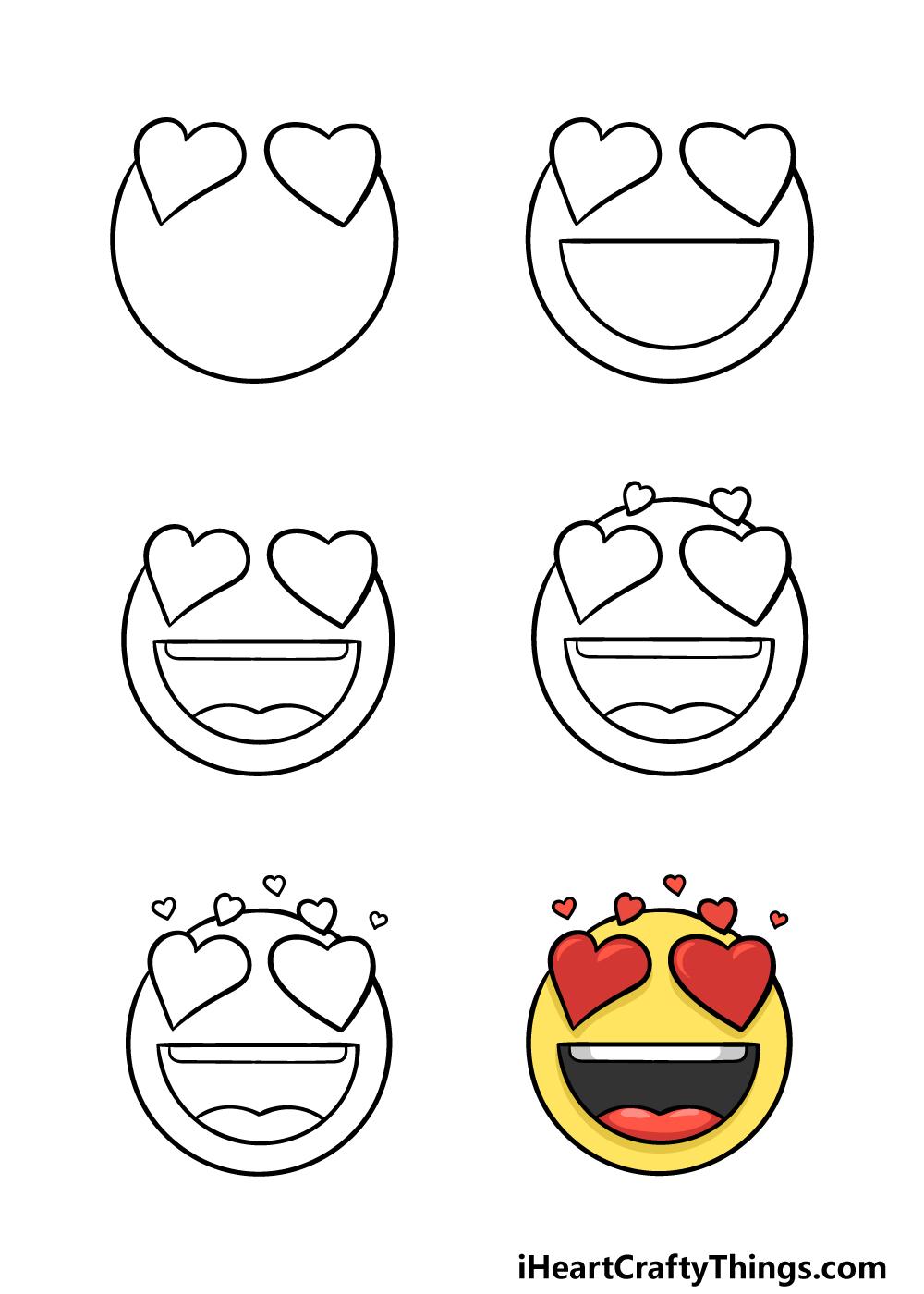 how to draw emoji in 6 steps