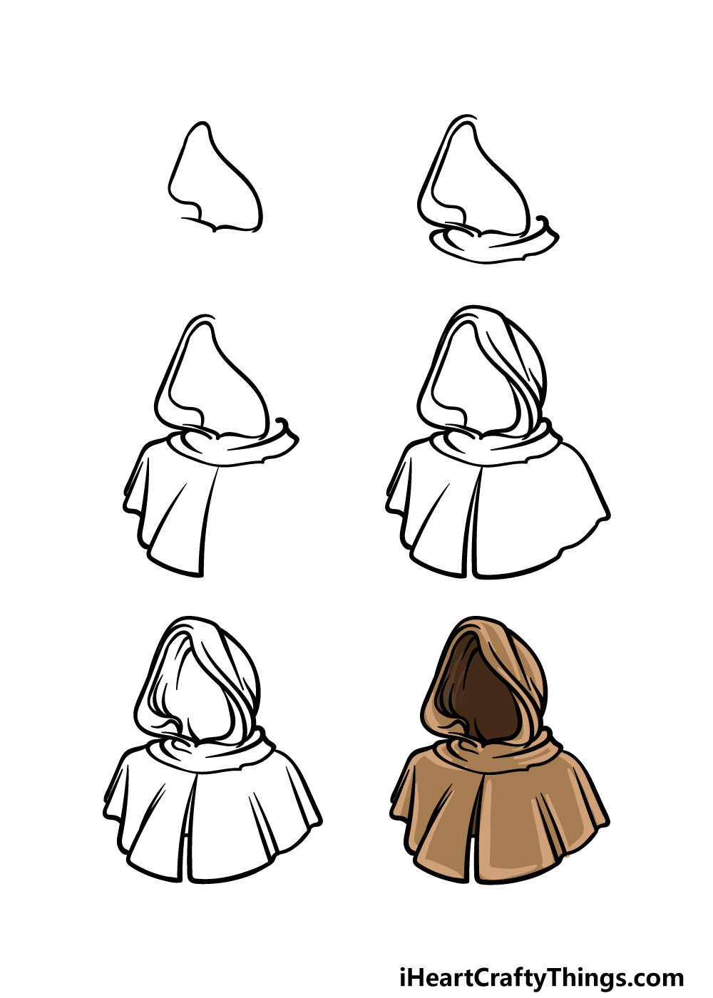 how to draw a hood in 6 steps