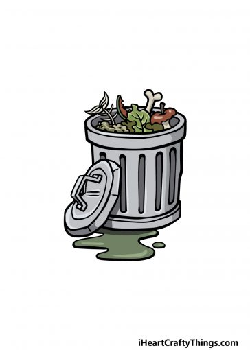 how to draw a trash can image
