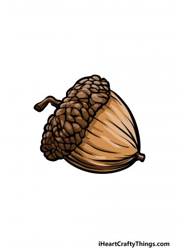 how to draw an acorn image