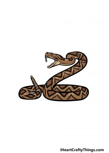 how to draw a rattle snake image