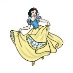 how to draw Snow White image
