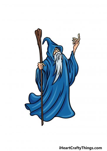 how to draw a wizard image