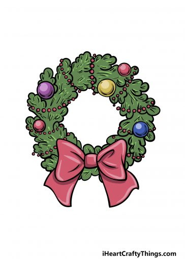 how to draw a wreath image