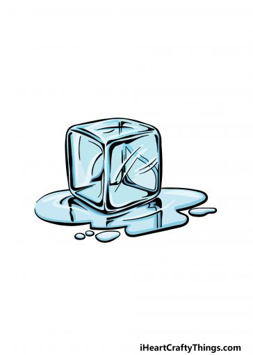 how to draw an ice cube image