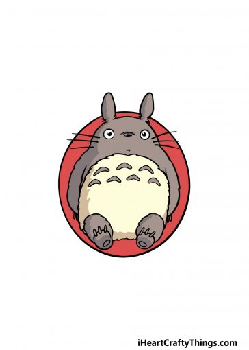how to draw Totoro image