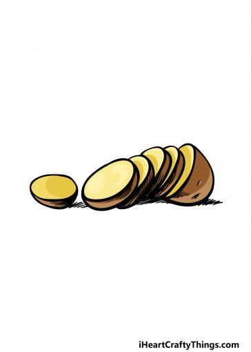 how to draw a potato image