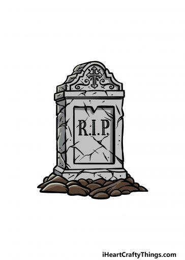 how to draw a tombstone image