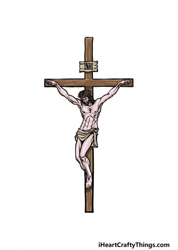 how to draw Jesus on the Cross image