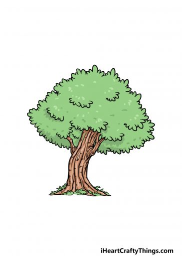 how to draw an oak tree image