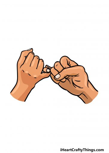 how to draw a pinky promise image
