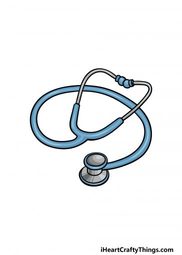 how to draw a stethoscope image