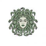 how to draw Medusa image