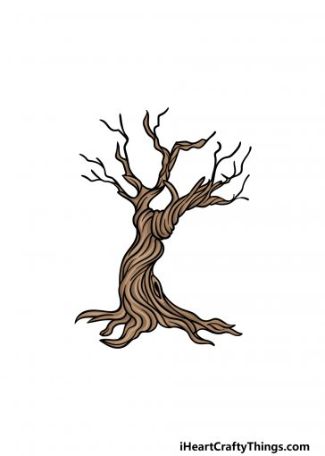 how to draw a dead tree image