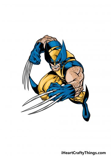 how to draw wolverine image