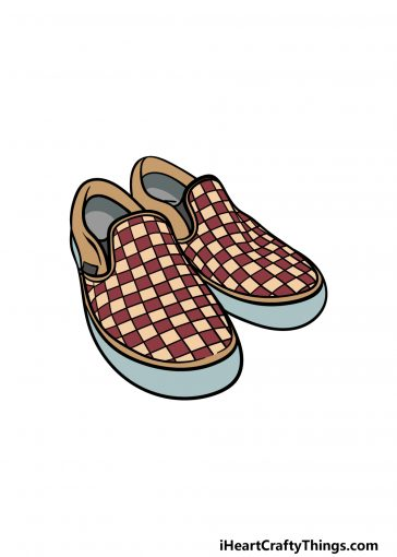 how to draw vans shoes image