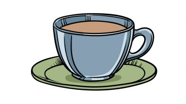 how to draw a tea cup image
