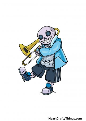 how to draw Sans image