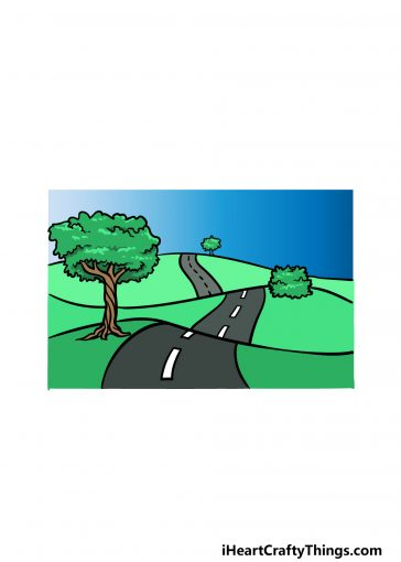 how to draw a road image