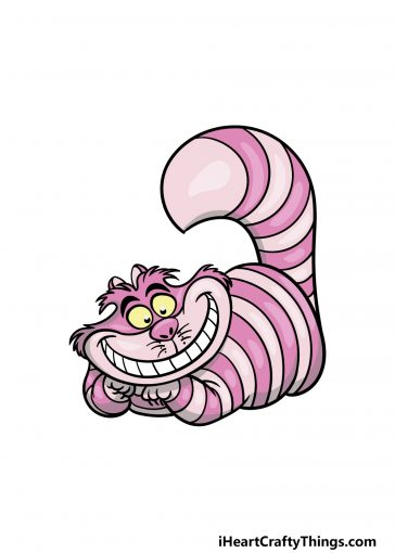 how to draw the Cheshire Cat image