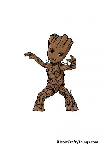 how to draw baby groot image