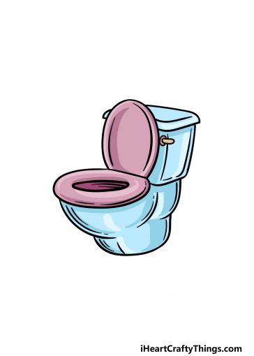 how to draw a toilet image