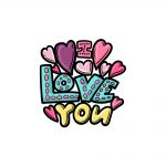 how to draw I Love You image