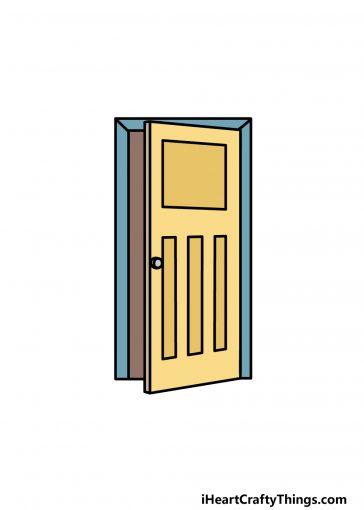 how to draw a door image