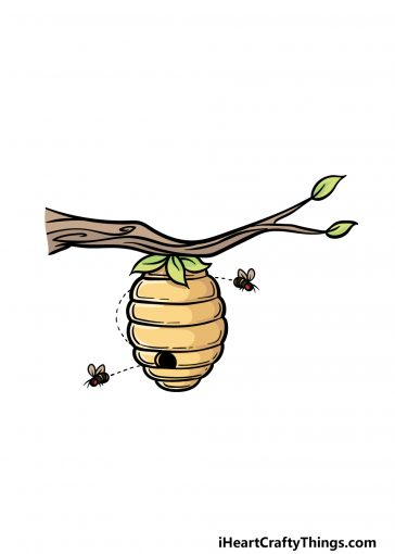 how to draw beehive image