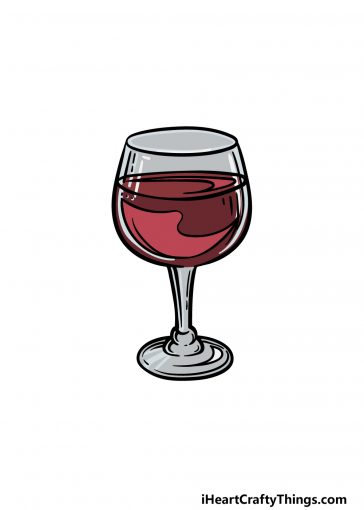 how to draw a wine glass image