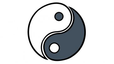 how to draw Yin and Yang image