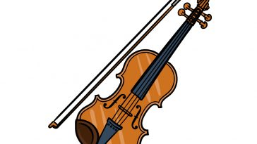 how to draw a violin image