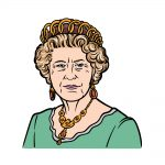 how to draw the Queen image