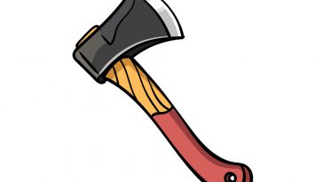 how to draw an axe image