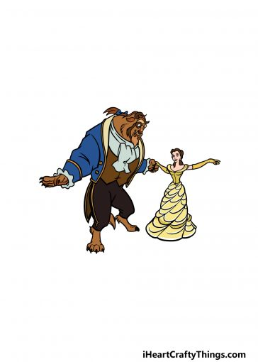how to draw Beauty and the Beast image