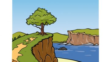 how to draw a cliff image