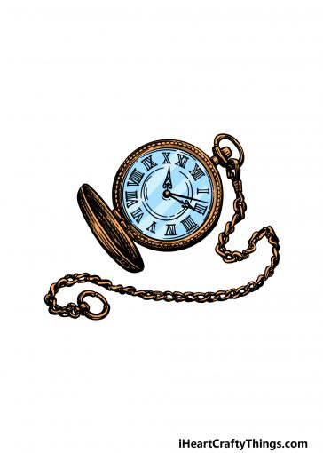 how to draw a pocket watch image