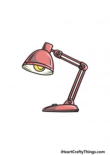 how to draw a lamp image