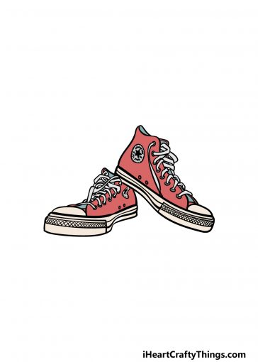 how to draw converse image