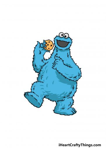 how to draw a cookie monster image