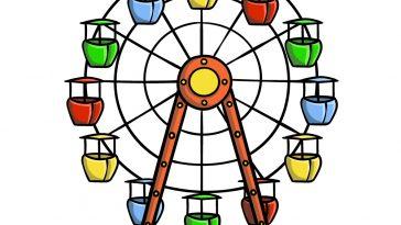 how to draw Ferris Wheel image