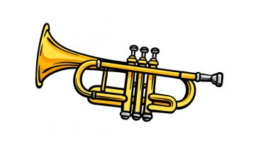 how to draw a trumpet image