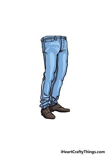 how to draw jeans image