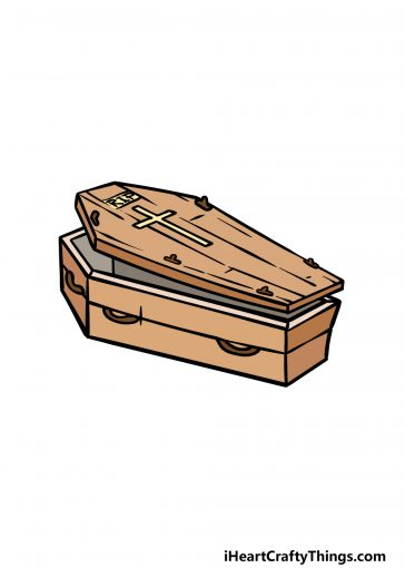 how to draw a coffin image