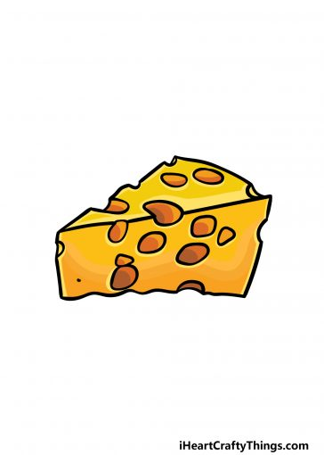 how to draw cheese image