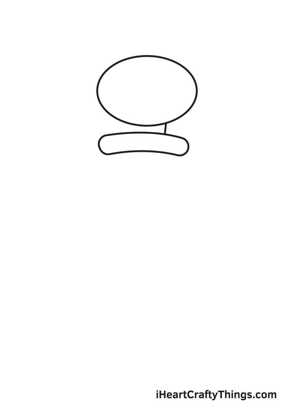 drawing Squidward step 1