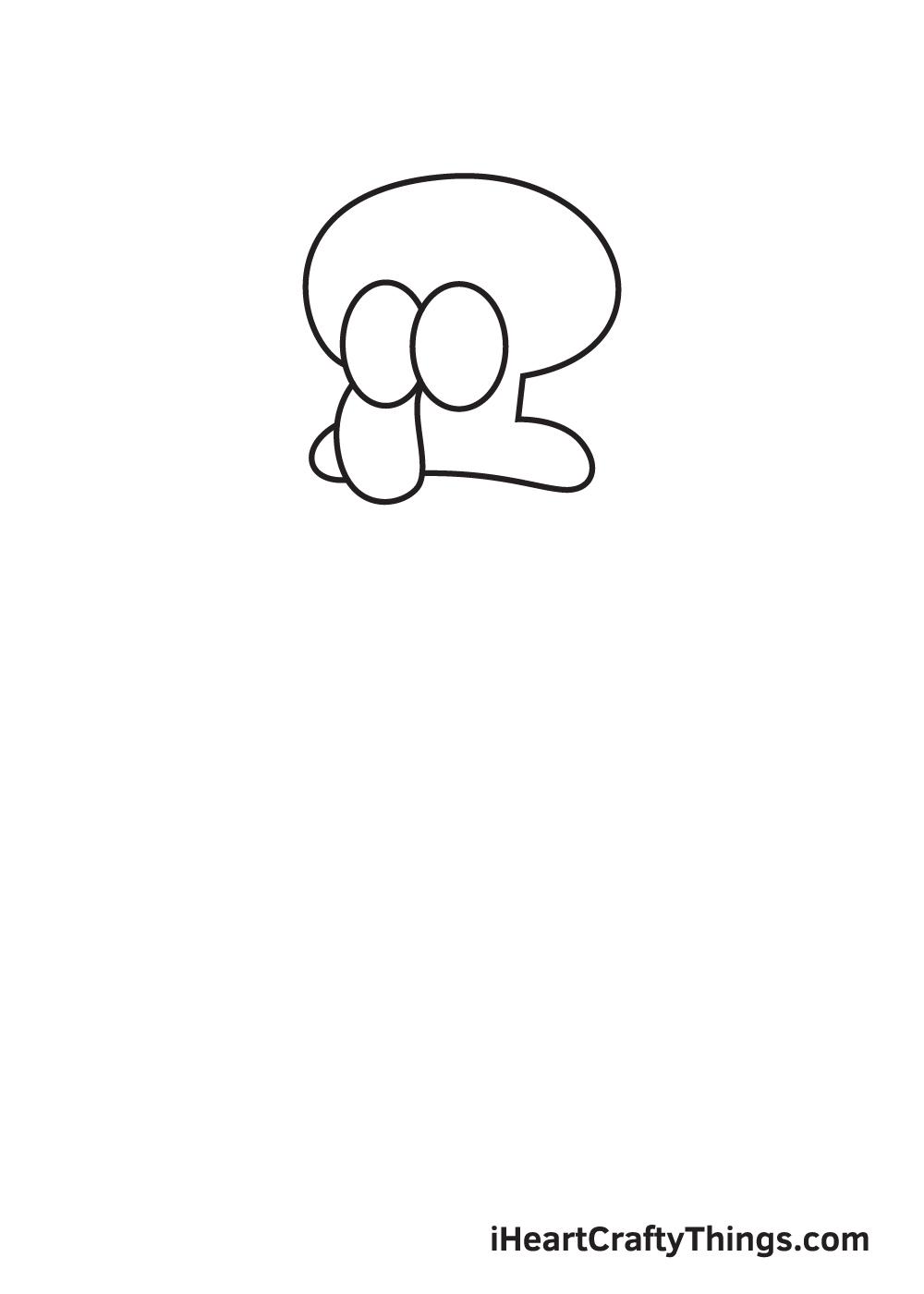 drawing Squidward step 2